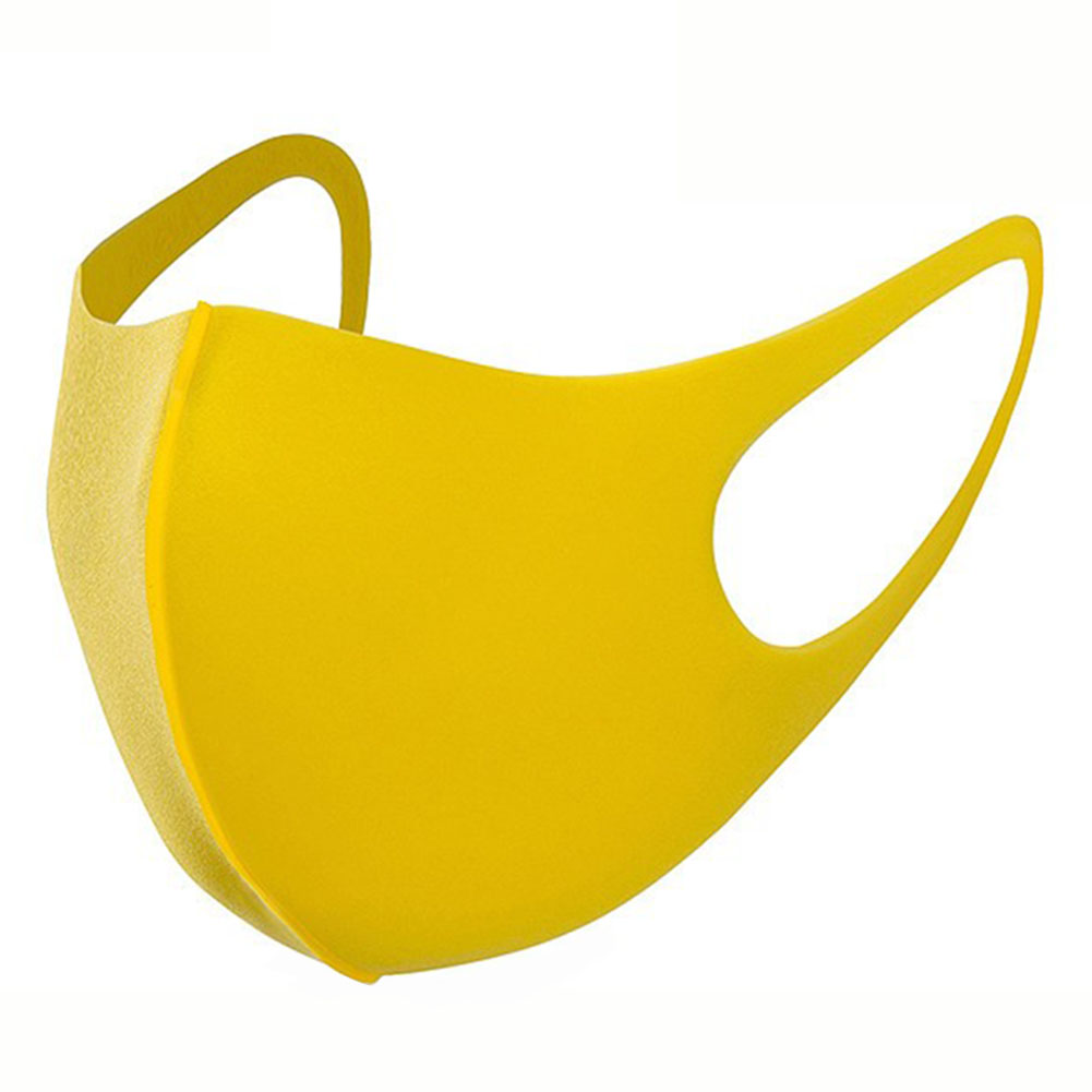 PU Sponge PM2.5 Mouth Cover Children Washable Dustproof Respirator Anti-Dust Proof Flu Face Mask (Yellow)