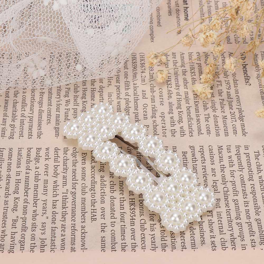 Sweet Women Girls Imitation Pearl Hair Clip Delicate Heart Bow Rabbit Hair pin Hair Accessories Delicate Crown Tiara Jewelry