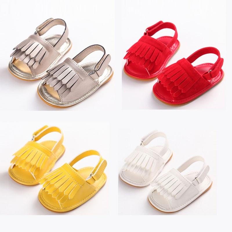 Sandals For Baby Girls Shoes Non-Slip Baby Flower Sandals Toddlers Newborn Infantil Sandals Children Kids Summer Shoes