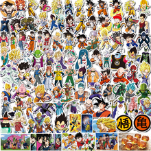 100pcs Dragon Ball Sticker Doodle Does Not Repeat The Individuality Sheet Car Motorcycle Draw Bar Box Cartoon Toy