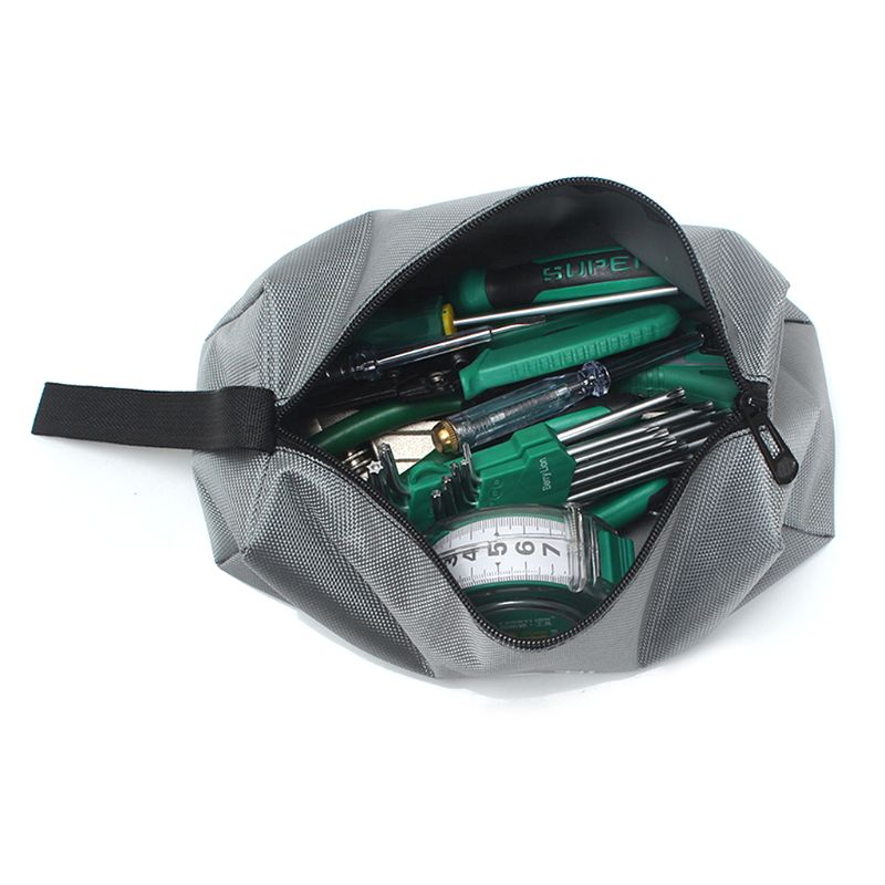 Oxford Canvas Tool Bag Zipper Hardware Storage Toolkit Travel Makeup Hand Pouch