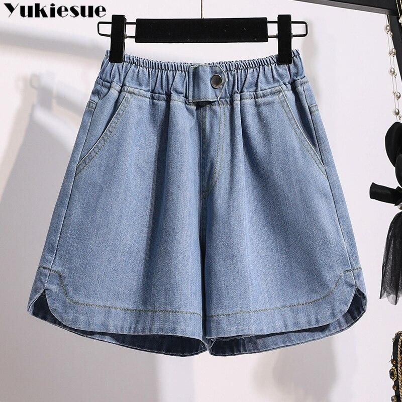 Harajuku vetement femme 2021 летние женские джинсовые шорты джинсы женская одежда больших размеров свободное ropa mujer короткие женские юбки размера плюс д...