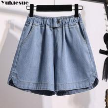 Harajuku vetement femme 2021 verão das mulheres shorts jeans roupas femininas solto ropa mujer femme curto plus size jean shorts