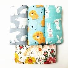 Одеяло 70% бамбуковое детское пеленание ребенка муслиновое одеяло качество лучше, чем Aden Anais детское Многофункциональное большое одеяло пеленки Младенческая обертка