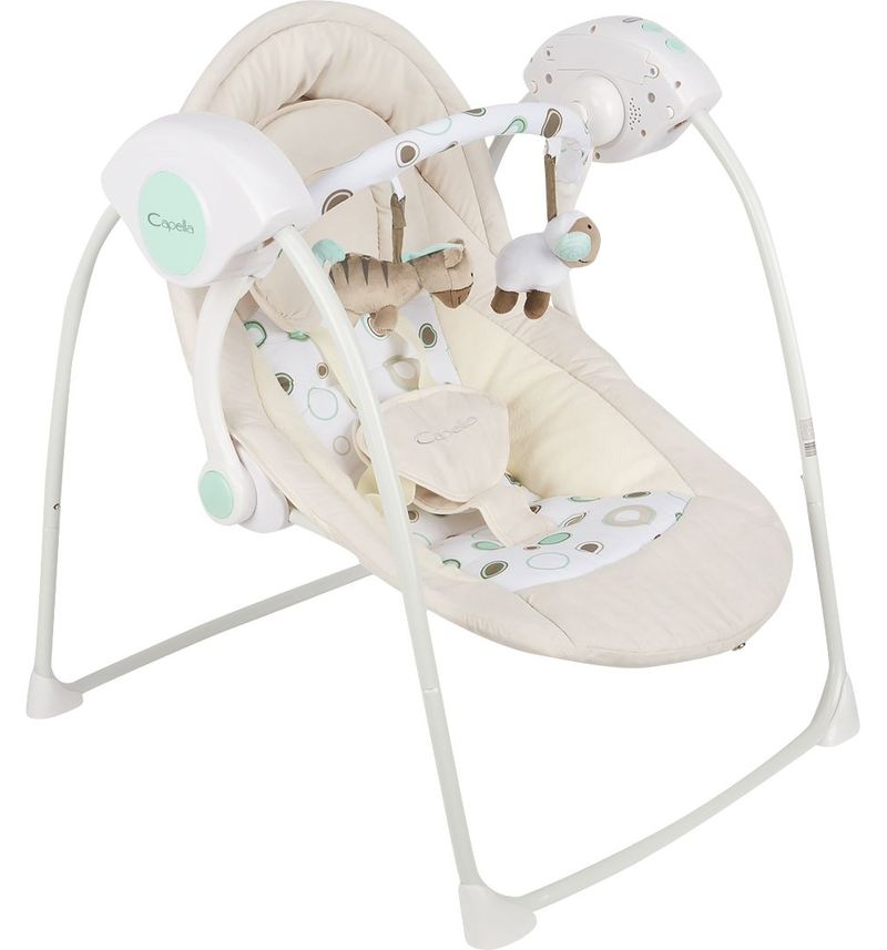Bouncers,Jumpers & Swings Capella TY-002B teeter swing for children electric for newborns  for baby Gray