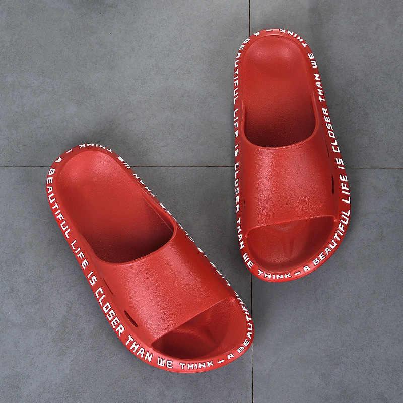 Женские модные шлепанцы; Домашние шлепанцы; Женская Повседневная нескользящая обувь; Женская летняя обувь для влюбленных; Женская обувь на плоской подошве для ванной; Модель 2020 года; Большие размеры