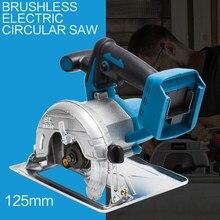 10800rpm 125mm sem fio elétrico circular cortador de madeira curvada corte ajustável máquina de serrar para 18v makita bateria