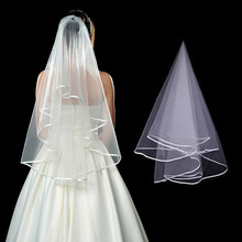 Fashion White Short Bridal Veil Two Layer 80cm Without Comb Ivory Veils For Wedding Party Tulle Veiling New Arrival Accessories