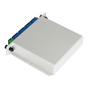 Image 3 - Free Shipping 10pcs/lot  SC UPC 1X8 Fiber Optic FTTH cassette box Optical Coupler  SC UPC PLC 1X8 fiber splitter Box