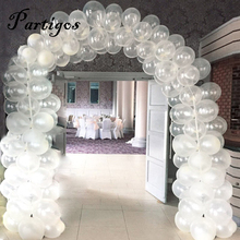 100pcs/lot 12Inch Clear Latex Balloons Transparent Balloon chain Romantic Wedding Birthday Party Decoration Inflatable Air globo