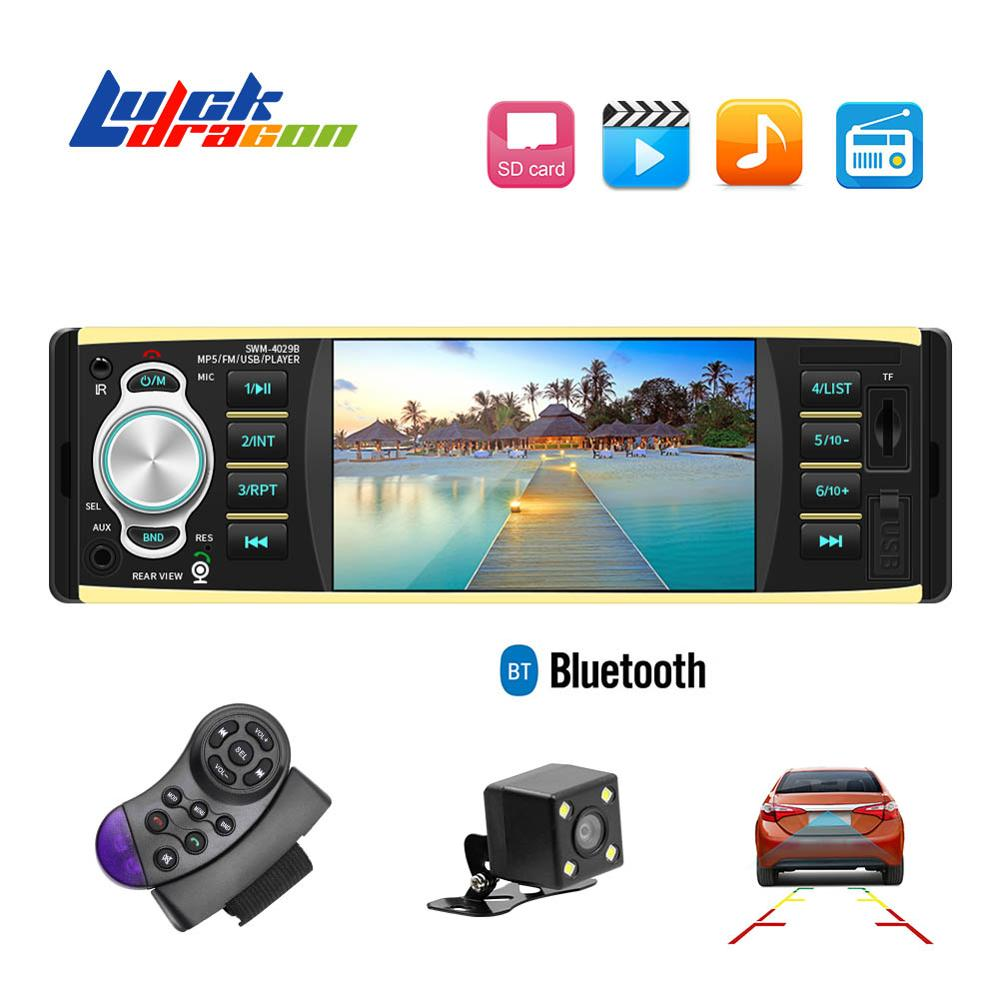 Camera Input-Receiver Car-Radio Steering-Wheel 1din Stereo Bluetooth Aux Auto Audio FM title=