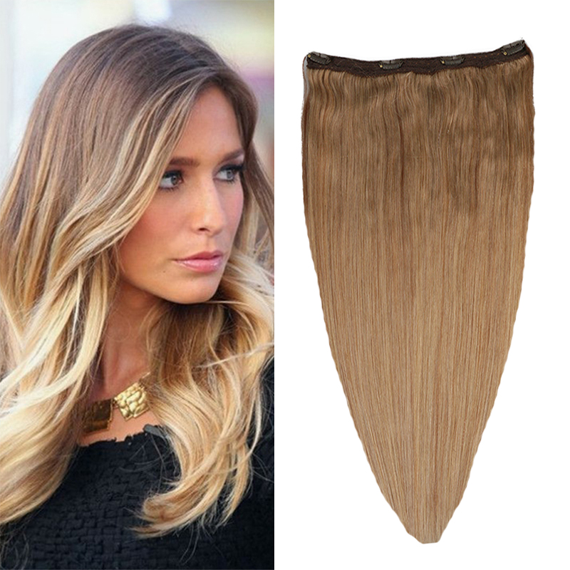 Brazilian Clip in Remy Human Hair Extensions One Piece 4 clips 100% Remy Human Hair Straight Soft Extensions 80g 100g