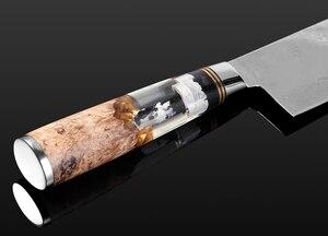 Image 3 - XITUO Küche Kochmesser Damaskus Pulver Stahl Sharp Hackmesser Slicing Gyuto Utility Messer Kochen Werkzeug Transparent Harz Griff