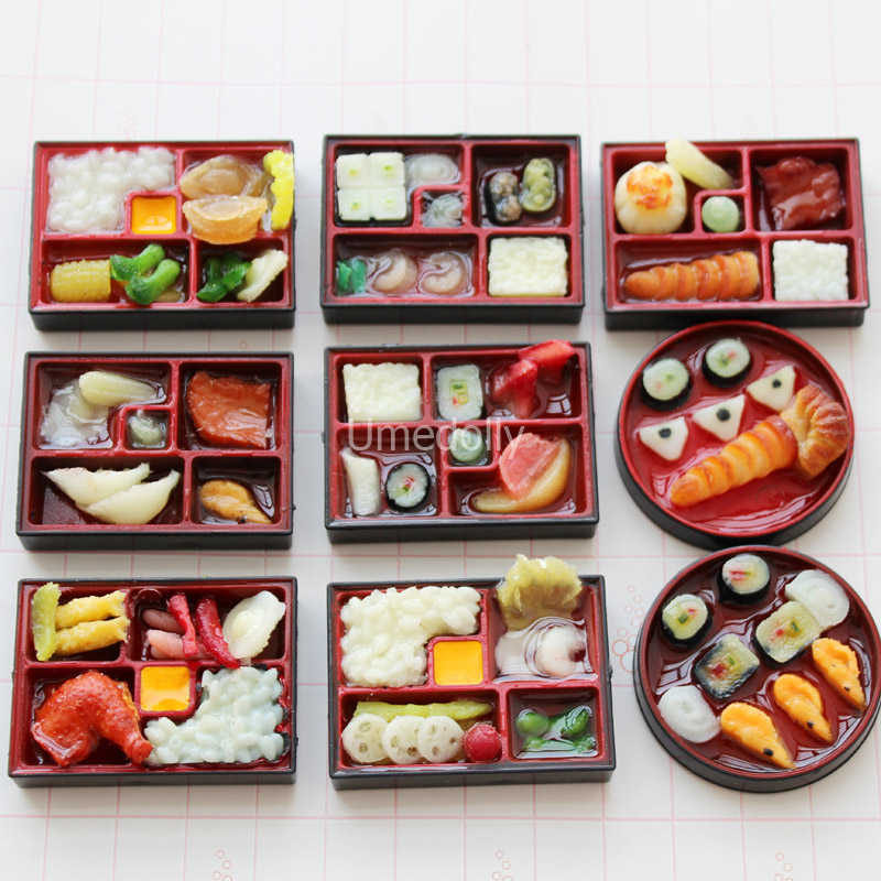 2pc 1:6 Scale Dollhouse Miniature Sushi Rice For Dollhouse Decor Pretend ODUL8EA