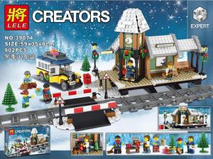 Image 1 - Christmas City Winter Village Station Bakery series Carriage House Building Blocks Bricks Gifts Toys for Children friends 10259