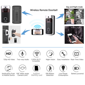Image 3 - EKEN V5 WIFI פעמון חכם IP וידאו אינטרקום וידאו דלת טלפון דלת פעמון מצלמה עבור דירות IR מעורר אבטחה אלחוטית מצלמה