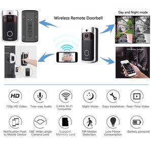 Image 3 - EKEN visiophone intelligent V5 wi fi IP, interphone vidéo intelligent sans fil, caméra de sécurité IR et alarme, interphone vidéo pour porte dappartement