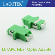 25/50/100/200 adet LC APC dubleks tek modlu Fiber optik adaptör LC fiber optik bağlayıcı LC APC Fiber flanş LC konektörü