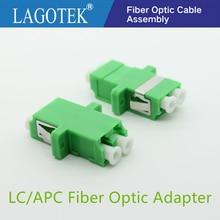 25/50/100/200Pcs LC APC Duplex single mode Fiber optic Adapter LC Optical fiber coupler LC APC Fiber flange LC connector