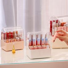 Etui na szminki pudełko na przybory do makijażu Organizer na kosmetyki etui na szminki plastikowe przezroczyste z pokrywą wodoodporne i pyłoszczelne tanie tanio CN (pochodzenie) Z tworzywa sztucznego Ekologiczne Zaopatrzony 100 kg Other Europa SQUARE