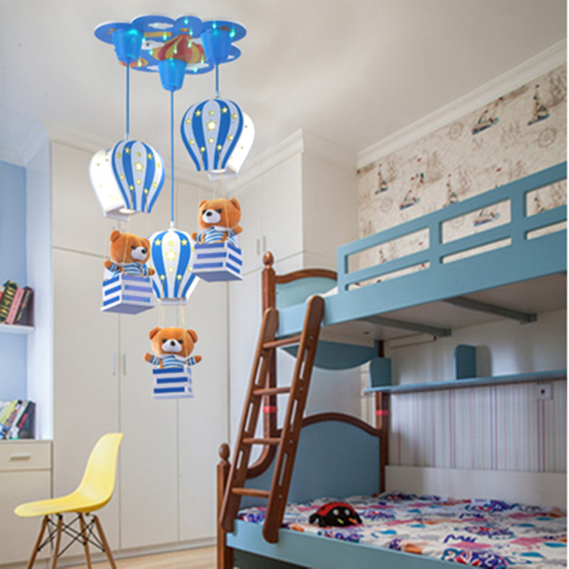 Nordic Modern Minimalist Children Balloon Theme Chandelier LED Children Room Boy Girl Bedroom Lighting