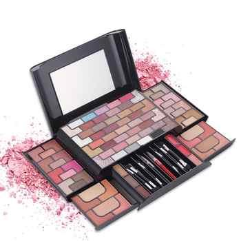 Hot Sell Gold Brick Maze Makeup 68 Color Eye Shadow 8 Color Blush 4 Color Powder 3 Color Eyebrow Powder Stage Makeup Makeup Set - Category 🛒 All Category