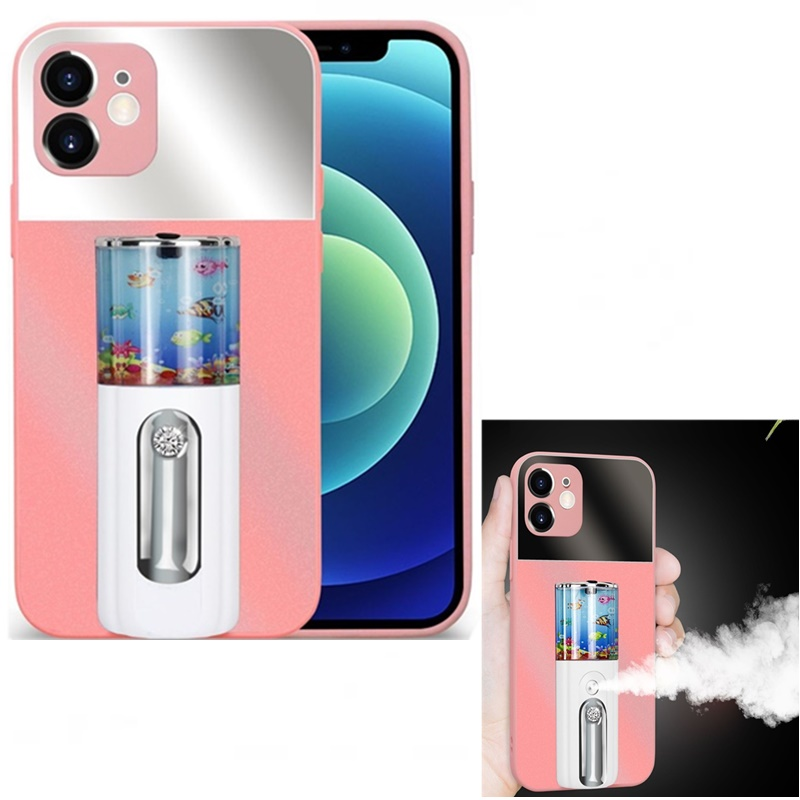 Tongdaytech 2IN1 Spray Phone Case Rechargeabe Women Makeup Moisturizing Phone Cover For Iphone XR XS 11 12 Pro Max 6 7 8 Plus