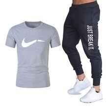 men'sBrand спортивной мужской костюм Бег футболка дамы спортивные костюмы+ летние туфли для бега трусцой фитнес-брюки спортивные