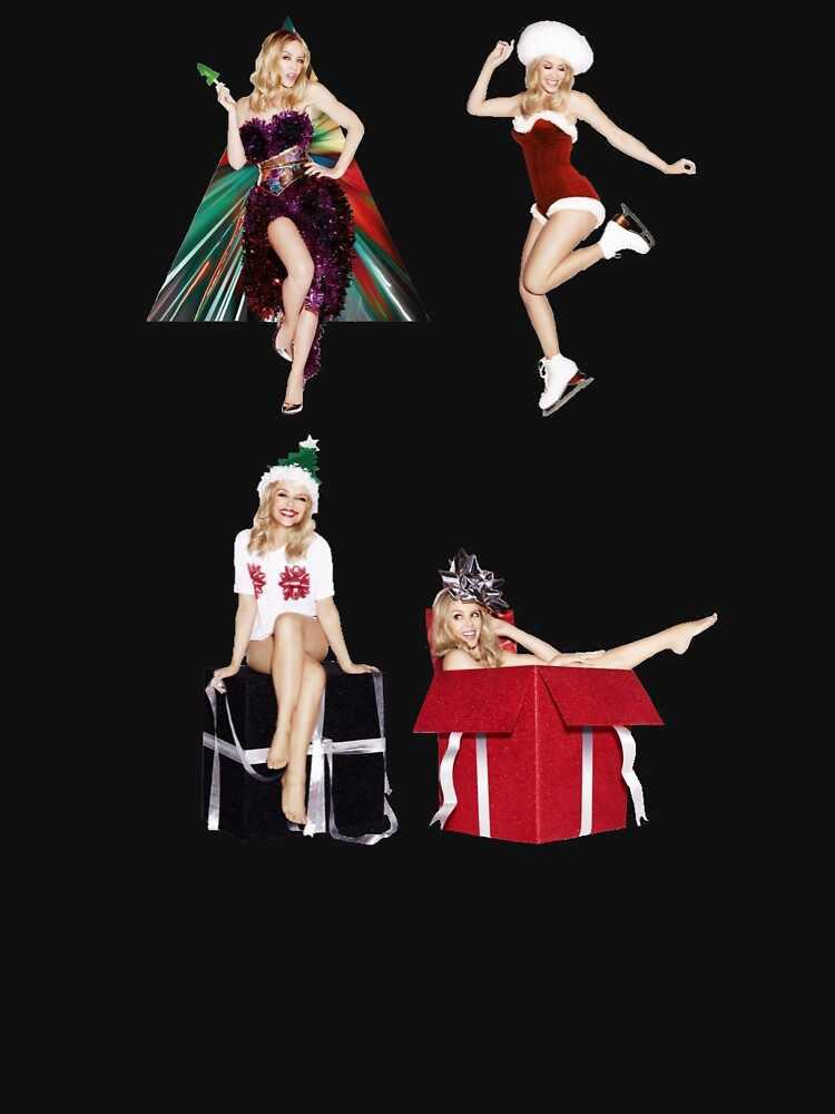 Классическая футболка Kylie Minogue с рождественской тематикой