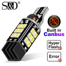 цена на 1PC W16W T15 LED Bulbs 2835 SMD Canbus OBC Error Free LED Backup Light 921 912 W16W LED Bulbs Car Reverse Lamp Xenon White 12V