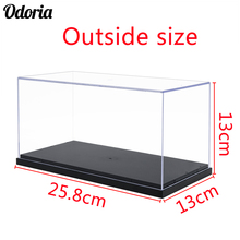 Odoria 24.8x12x11.5cm Acrylic Display Case Box Plastic Base Dustproof For Action Figure Model Car Vehicle Pop Collectibles Dolls