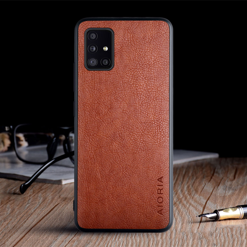 Case For Samsung Galaxy A51 A71 5G 4G Funda Luxury Vintage Leather Skin Coque Soft Cover For Samsung Galaxy A51 A71 Case Capa