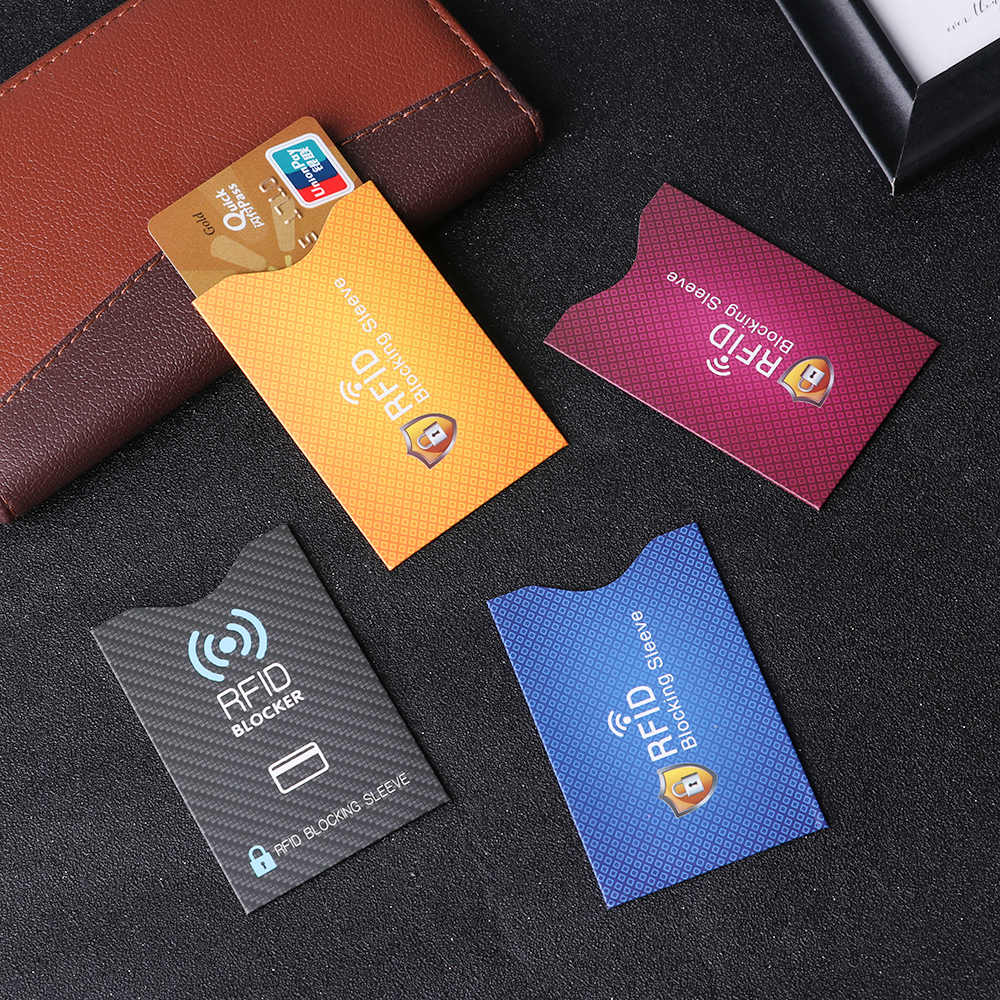 5PCS Anti Theft for RFID Credit Card Protector Blocking Cardholder Sleeve Skin Case Covers Protection Bank Card Case New