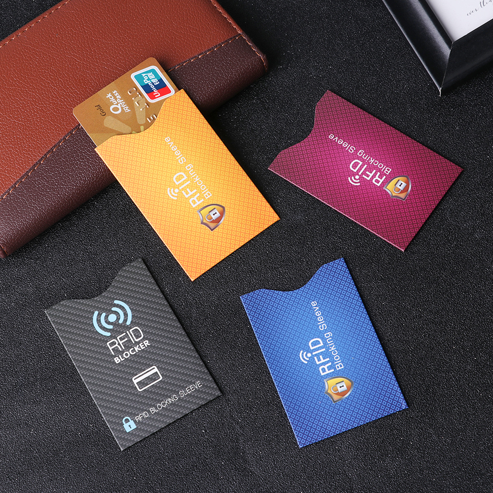 Bank Anti-theft Protect Case Cover Card Holder RFID Blocking Sleeve Wallet