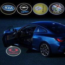 Projecteur LED pour porte de voiture, 2 pièces, accessoires pour Mitsubishi asx outlander xl 3 lancer pajero 4 l200 EVO