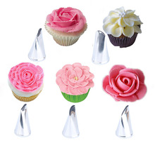 5pcs Rose Petal Nozzle 304 Stainless Steel Baking Accessories  Bakery Tools Cake