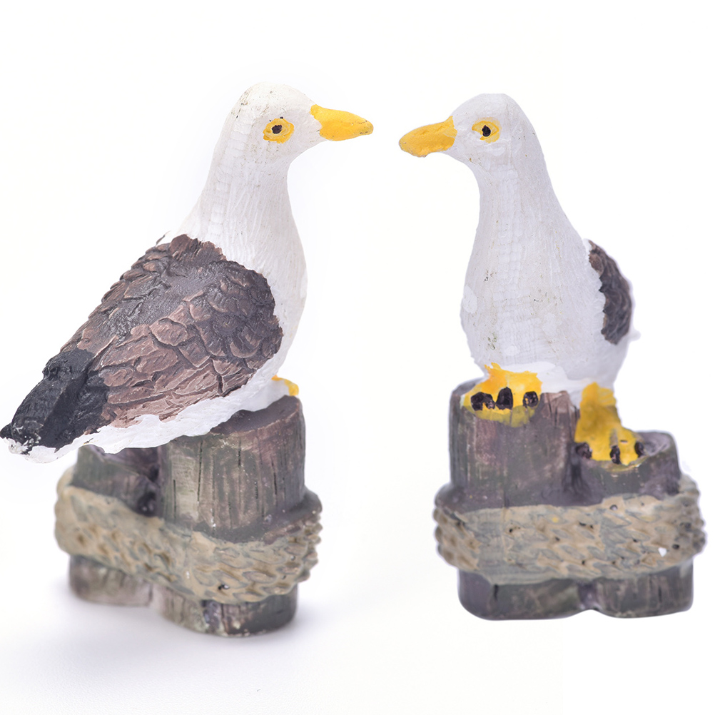 1pcs Sea Bird Seagull Stand Stump Miniature Fairy Garden Home Houses Decoration Landscaping Diy Figurines Miniatures Aliexpress