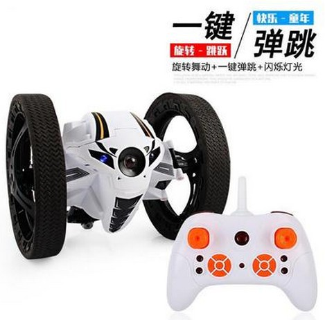 New Products 2.4G Smart Remote Control 360-Degree Rotating Bounce Stunt Remote Control Car A Key Bounce CHILDREN'S Toy