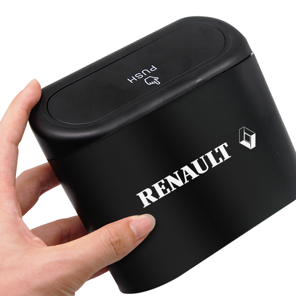 Car Trash Can Garbage Bin Universal Car Interior Organizer Storage Box Rubbish Garbage Holder Car Accessories For Renault