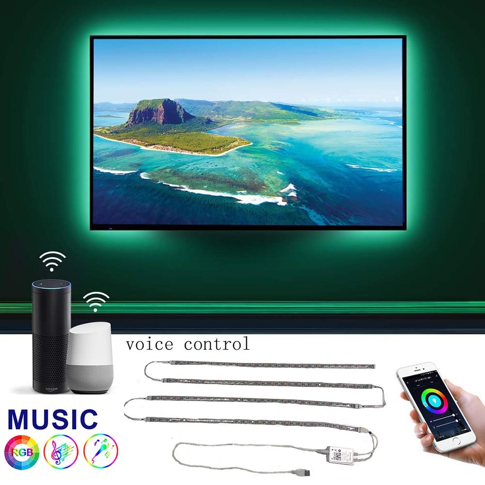 3M//5M WIFI+IR+Voice Control USB TV Backlight RGB Color Changing LED Strip Light