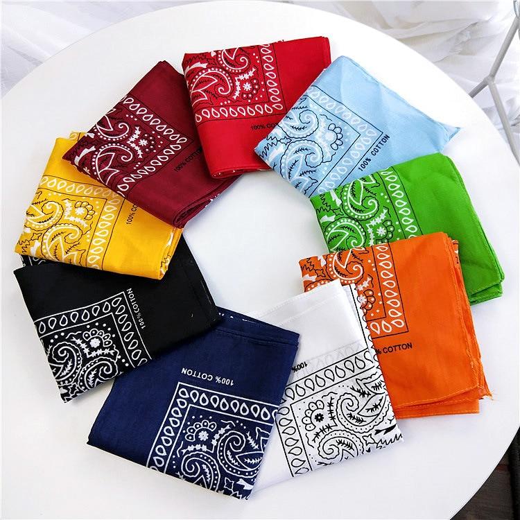 2020 Cotton Scarf Women Hip Hop Foulard Bandana Print  Square Hair Scarves Neck Kerchief Wraps Magic Head Band