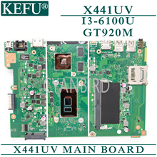 цена на KEFU X441UV original mainboard for ASUS X441UV with 4GB-RAM I3-6100U GT920M Laptop motherboard