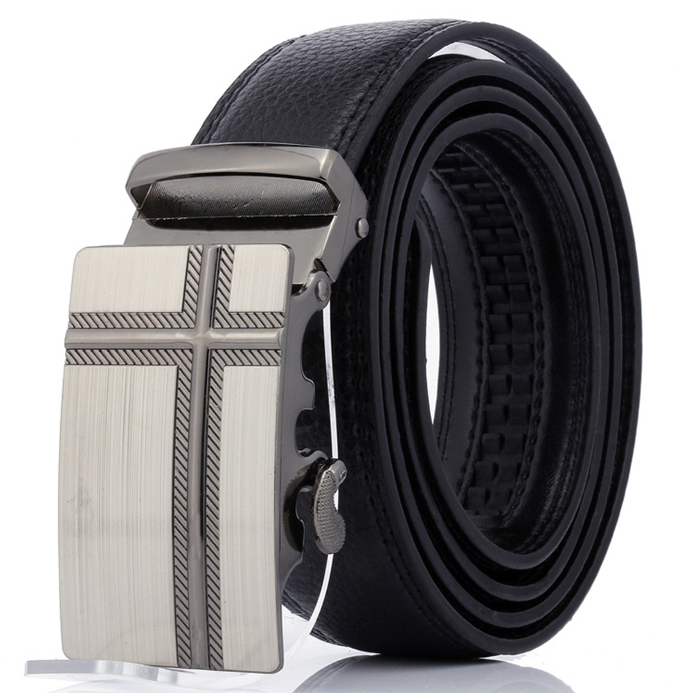 Men/'s Ratchet Belt Leather Dress Belts with Sliding Automatic Adjustable Buckle
