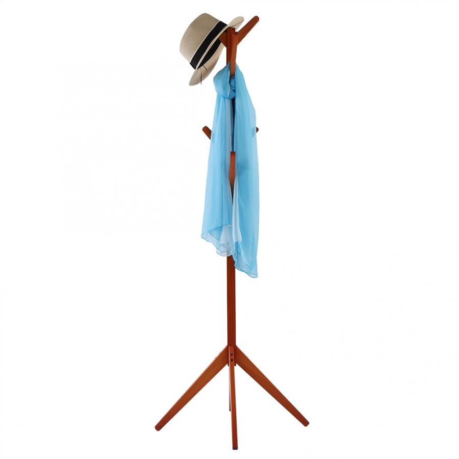 Image 4 - Pine Coat Clothing Rack Clothes Scarfs Hanging Stand Disassembled Hanger for Home Use Coat Pine Rack-in Hangers & Racks from Home & Garden