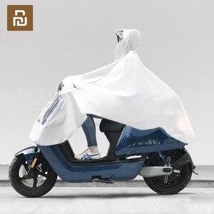 Image 1 - MI Mijia Qualitell EVA imperméable vélo imperméable capuche Poncho de pluie à capuche pour Scooter moto vélo hommes femmes housse de pluie