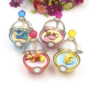 4pcs/set Dreaming Case Sleeping Eevee Vaporeon Jolteon Flareon Mini PVC Figures Anime Cartoon Monster Toys