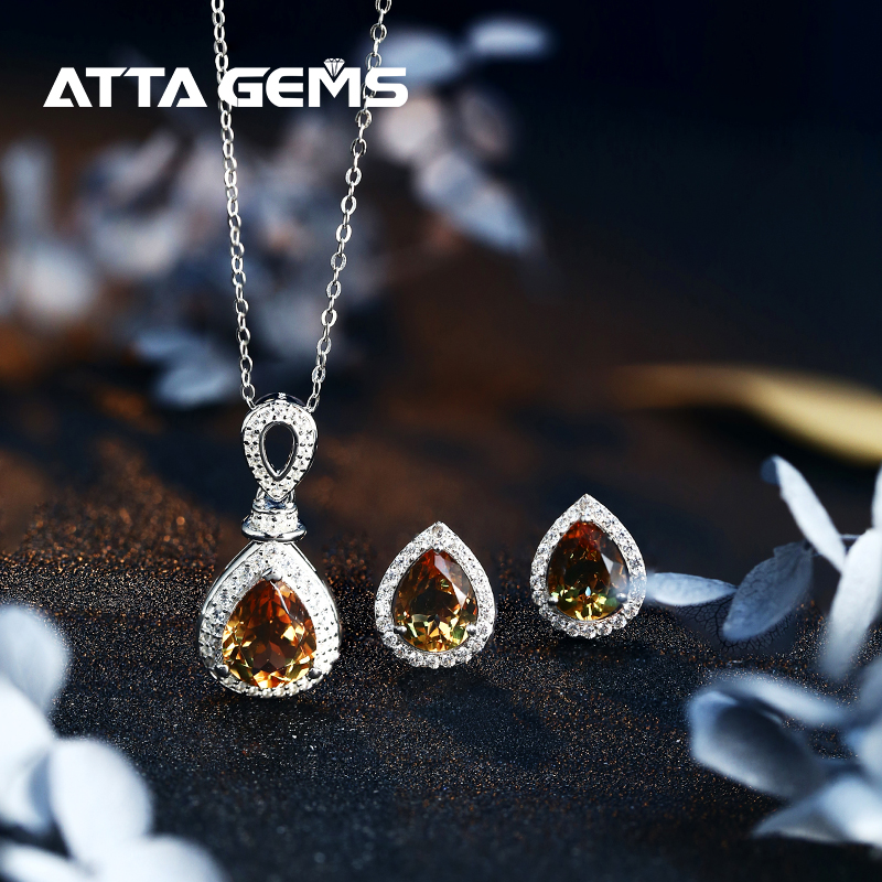 Zultanite Sterling Silver Women Jewerly Set For Wedding Jewelry 6.8 Carats Created Zultanite Color Change Stone Fine Jewelry