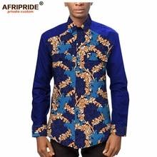 Afripride African Print Shirt for Men Tailor Made Ankara Full Sleeves Single Breasted Men's Shirt A2012002