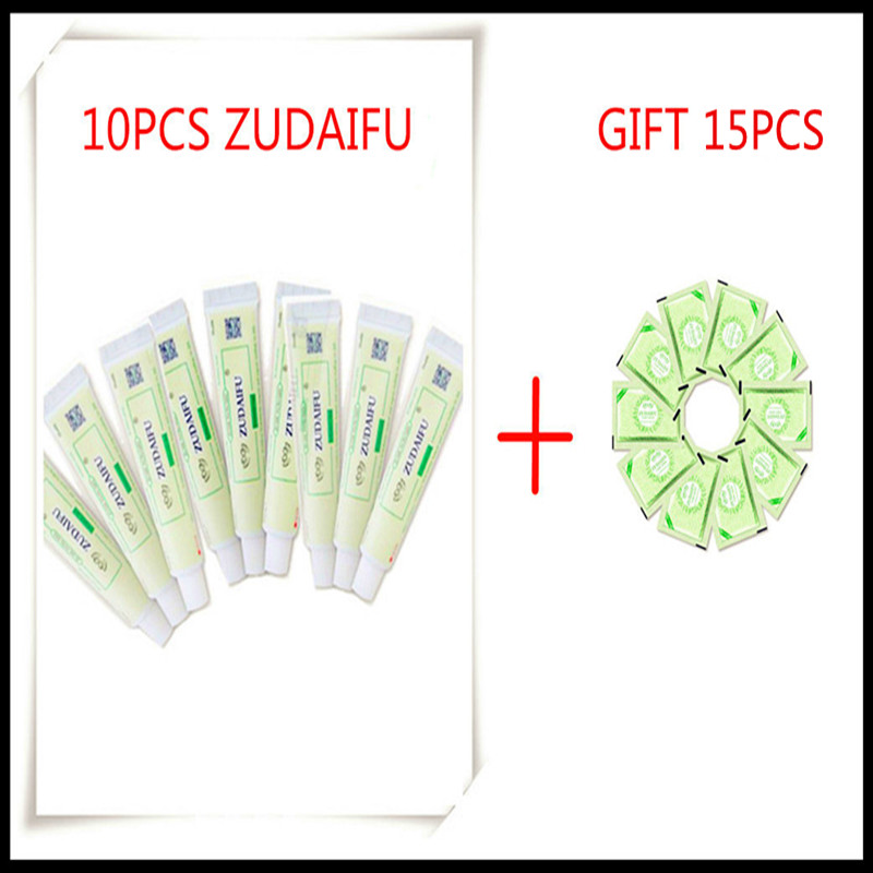 10PCS ZUDAIFU Natural Skin Creams Eczema Ointments Psoriasis Eczema Allergic Neurodermatitis( Without Retail Box)
