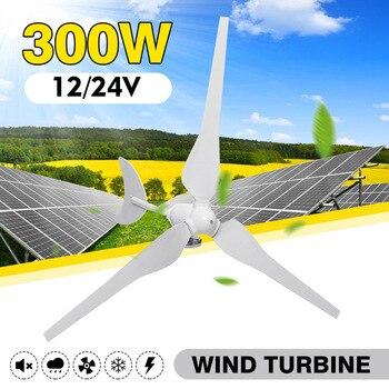 Wind Turbinen 300W Wind Generator AC12V/24 V Wind Turbinen Generator mit 3 Nylon Fiber Blades für Hause solar Straßenbeleuchtung, boot